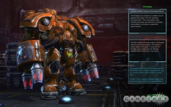 Terran Firebat в мультиплеере отсутствует, но в кампании всё же будет. Ждём аддона.