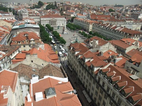 Лиссабон, вид с лифта