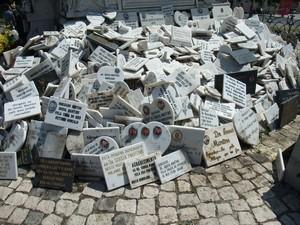 Лиссабон, плиты вокруг памятника
