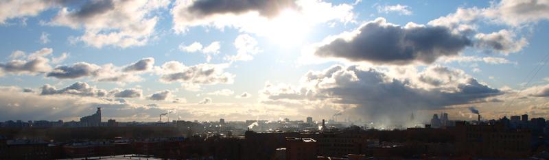 Скайлайн Москвы: утро 15 ноября