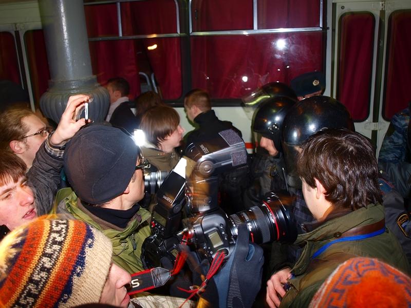 Новый Год на Триумфальной: Стратегия-31 в Москве 31.12.2011