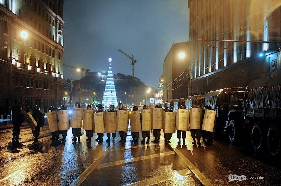 5 декабря. Цепь полиции