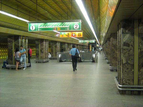 Пражское метро, одна из центральных станций