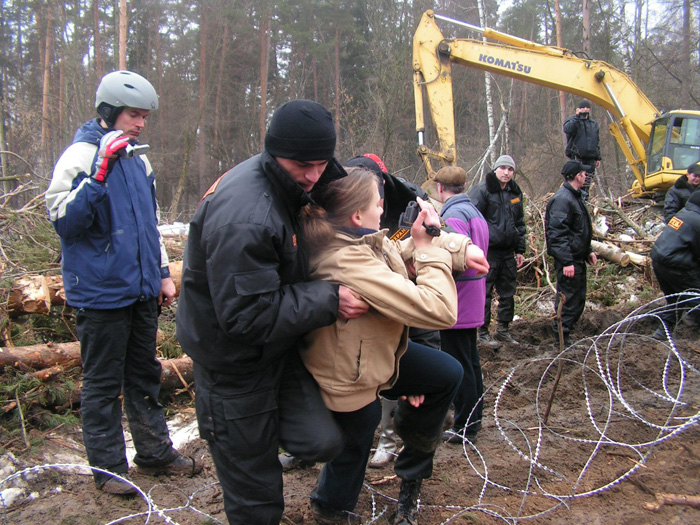 Жуковский лес лагерь защитников леса фото 12.04.2012