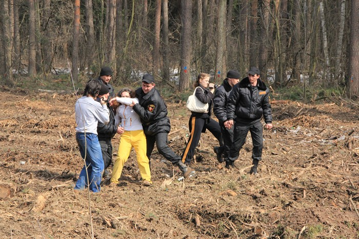 Жуковский цаговский лес лагерь защитников леса фото витязь 16.04.2012
