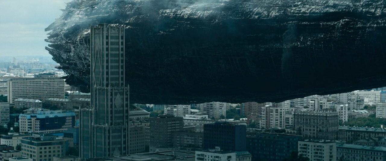 Аванпост корабль пришельцев над Москвой